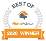Winner of Home Advisor's Best of 2020